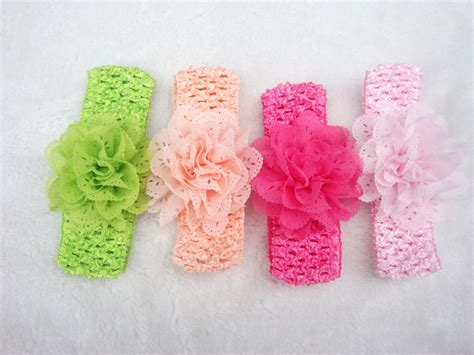 All Dressed Up Crocheted Hairclips by Promotion 10pcs Lot Chiffon Lace Flower Crochet Headband