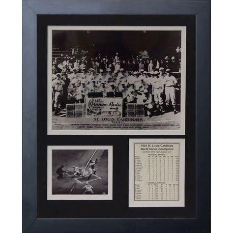 legends  die  st louis cardinals posed framed