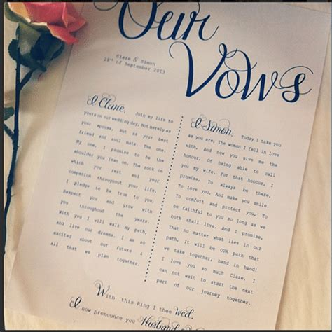 Wedding Vows by 60 Best Wedding Vows