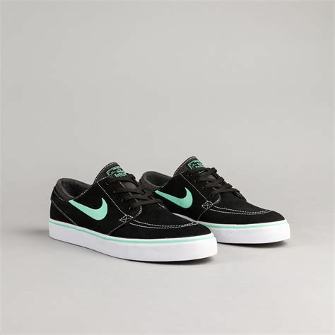 stefan janoski shoes nike sb stefan janoski shoes black green glow