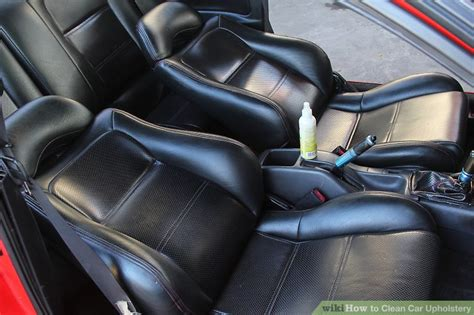Clean Auto Upholstery by 7 Ways To Clean Car Upholstery Wikihow