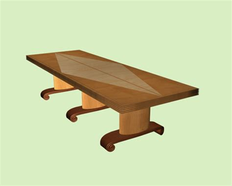 Solid Wood Conference Table Solid Wood Conference Table 3d Model 3dsmax Files Free Modeling 17692 On Cadnav