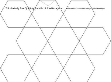 1 5 inch hexagon template 1 5 inch hexagon quilting stencil