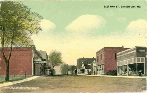 garden city missouri east vintage postcard