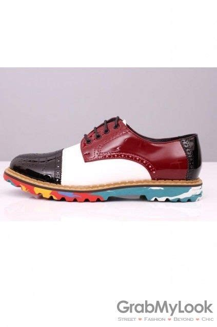 colored oxford shoes oxford color mens shoes colorful bottom sole patent lace