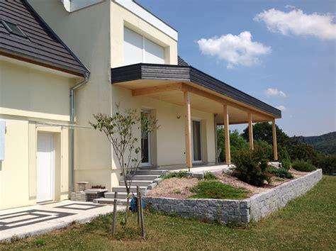 Extension maison, garage en bois, terrasse en ossature bois