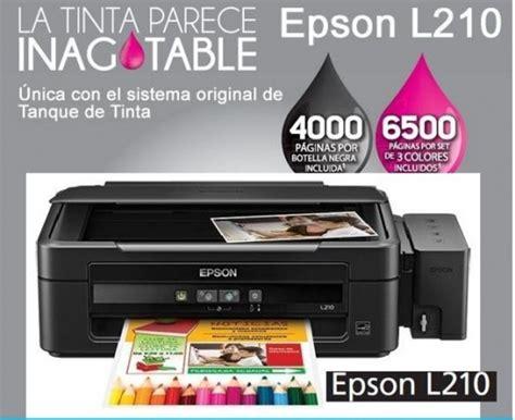 Tinta Printer Epson L210 impresora multifuncional de tinta continua epson l210 imprime escanea copia usb 2 0
