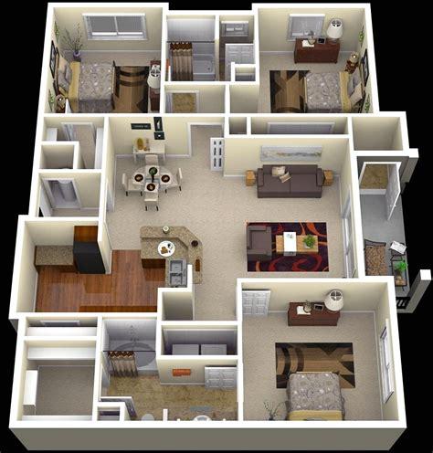 three room apartment 20 denah rumah sederhana 3 kamar tidur 3 dimensi 2018