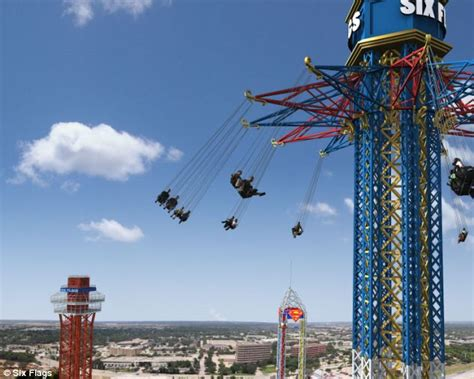 six flags texas swing ride six flags over texas amusement park world s highest swing