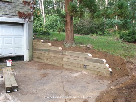 Landscape Timbers Cape Cod Pin Landscape Timber Retaining Walls On