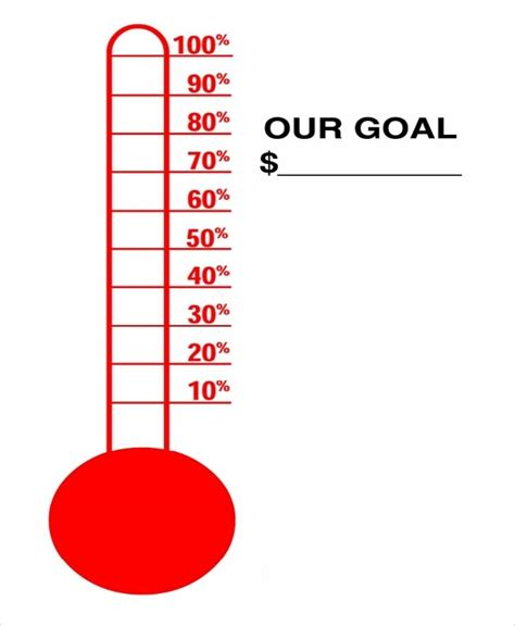 fundraising thermometer template word the best letter sle