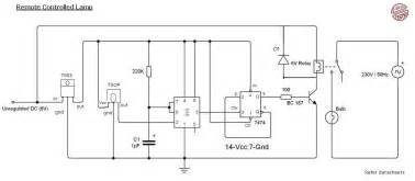 remote light circuit diagram using 555 timer electronics circuits