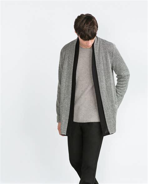 Zara Cardigan 1 zara cardigan in gray for lyst
