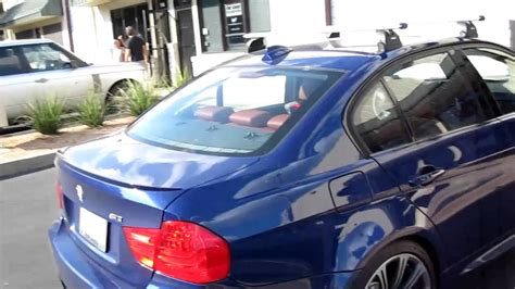 e46 m3 roof rack new 2011 bmw m3 outfitted with a thule roof rack by rack