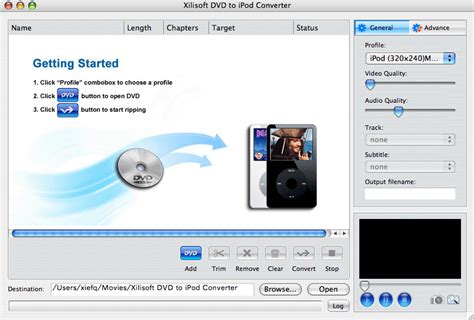 format audio ipod xilisoft dvd to ipod converter for mac free download and