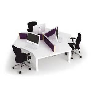 News Desks One001 Three Person Team Desk Cluster Spaceoasis Ltd