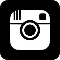 black instagram  icon  black social icons
