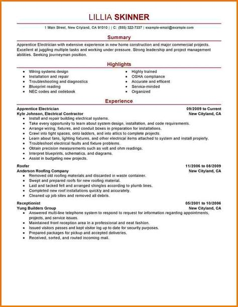 Journeyman Electrician Description by Industrial Electrician Resume Experience Resumes