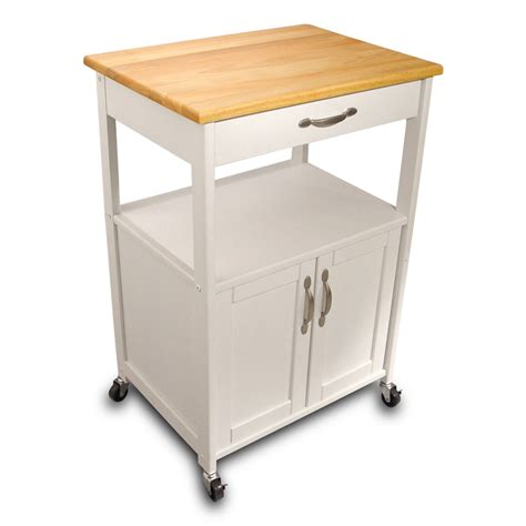 Kitchen Trolley white kitchen trolley with lacquered hardwood top