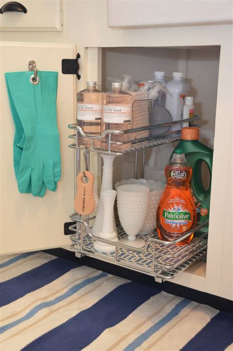 kitchen sink storage iron twine under sink storage