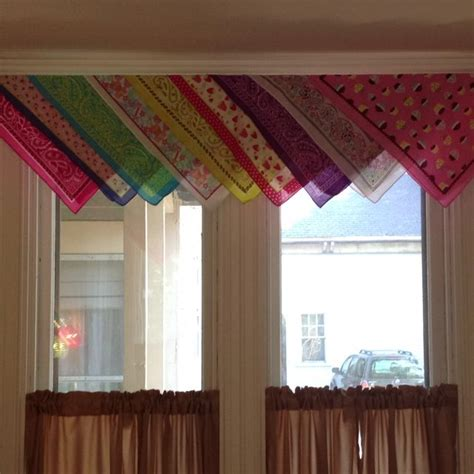 bandana curtains curtain valances made from bandanas bandanas pinterest