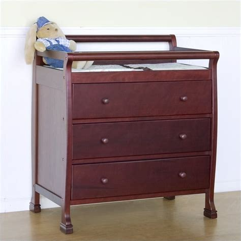 Convertible Changing Table Davinci Kalani Mini 2 In 1 Convertible Crib With Changing Table In Cherry M5598c M5555c Pkg