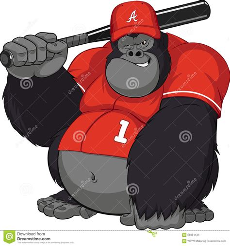 funny monkey stock vector image of funny baseballbat