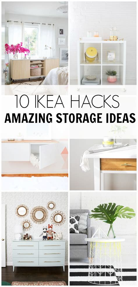 hacking ideas 10 ikea hacks amazing storage ideas hawthorne and main