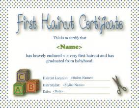 download first haircut certificate for free formxls