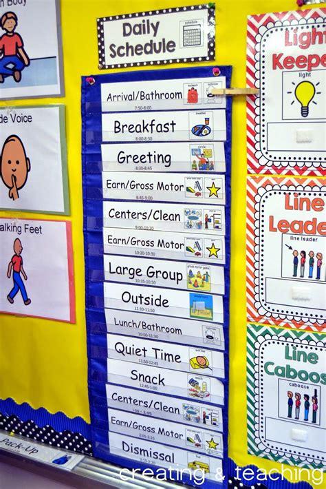 printable daily schedule for kindergarten classroom daily schedule editable classroom routines