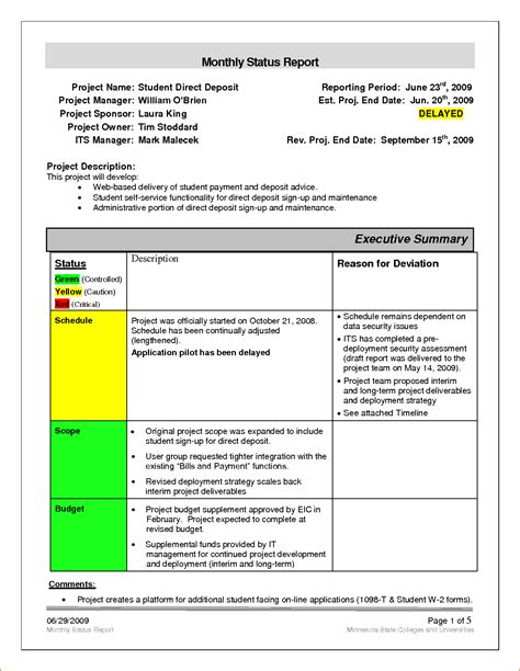 Monthly Status Report Template Word Portablegasgrillweber Com Infection Monthly Report Template