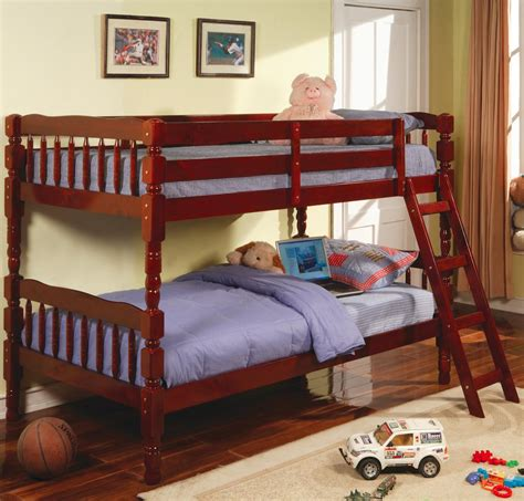 cherry twin bed 355 94 twin over twin bunk bed in cherry bunk beds 5