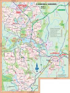 Canberra World Map by Map Of Surroundings Of Canberra