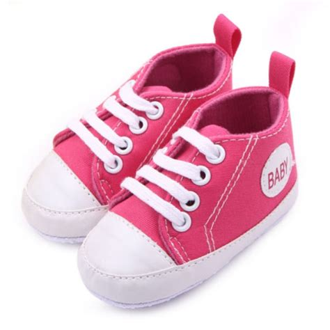 0 12m baby shoes toddler boys lace up canvas