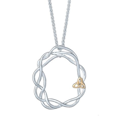 infinity knot necklace with 10k gold landing company