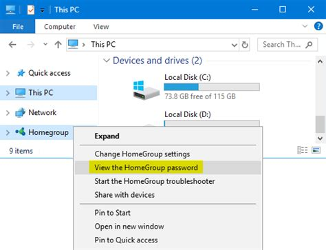 windows 10 homegroup tutorial how to recover or change homegroup password in windows 10