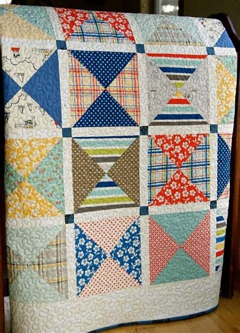 Missouri Patchwork - quilt baby patchwork handmade seaside fabrics by