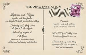 vintage postcard wedding invitations