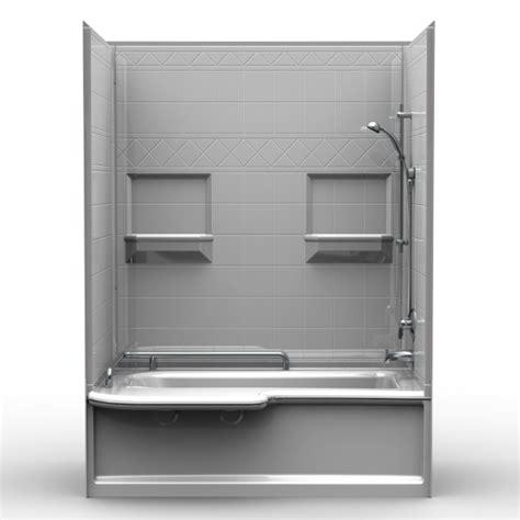 60 x 34 bathtub multi piece tub shower 34 quot x 60 quot x 79 1 2 quot shower tub combo 4apdts6034 bestbath
