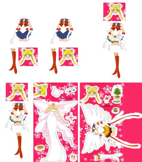 Sailor Moon Papercraft - sailor moon paperdoll by xuweisen on deviantart