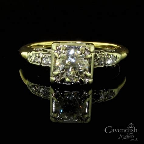 deco rings for sale uk deco solitaire ring from cavendish jewellers