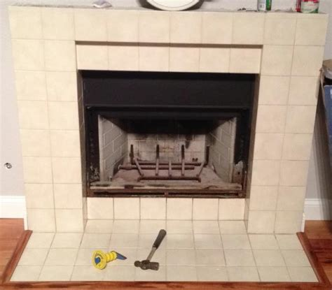 adding brick to fireplace front doityourself