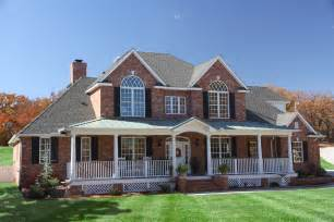 2 story brick house plans brick farmhouse with southern charm houseplansblog