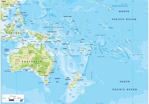 physical map of oceania as ogmo02 oceania physical map graphic education