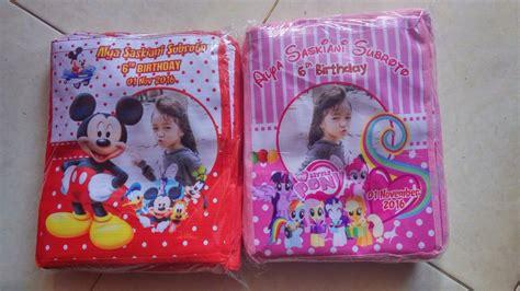 Tas Souvenir Ultah Anak Model Safa Banner Karakter Kartun Frozen jual goody goodie bag ultah anak custom tenteng harga