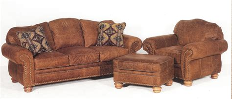 loveseat ottoman distressed leather sofa chair and ottoman