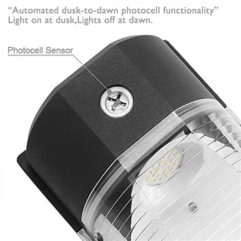 replacement photocell for outdoor light cinoton led wall pack light 26w 3000lm dusk to dawn