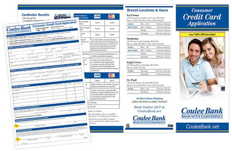 Brochure With Application by Brochure Coulee Bank Consumer Credit Card Application Flickr Photo