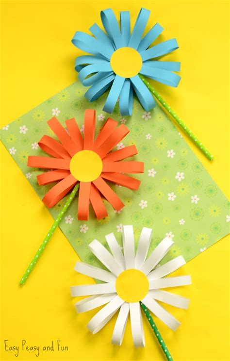 Simple Paper Craft For Preschoolers - paper flower craft easy peasy and