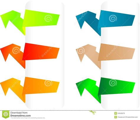 Origami Paper Set - vector set of origami paper banners stock vector